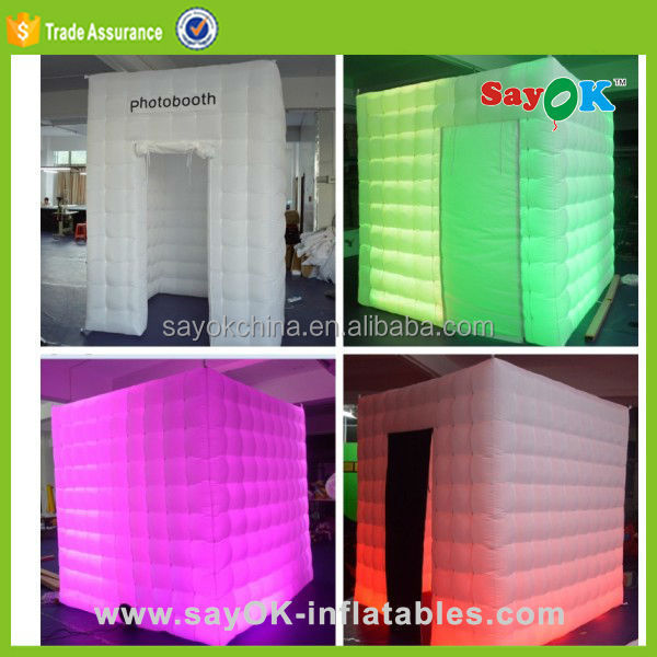 customized inflatable party wedding photo booth frames shell tent for sale