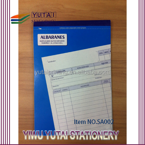 2016 Ncr Paper For Business Use Invoice Notebook,Invoice Printing