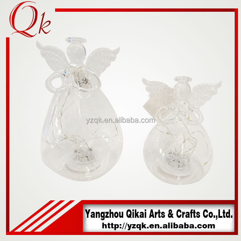new style glass angel candle holder for for home decoration