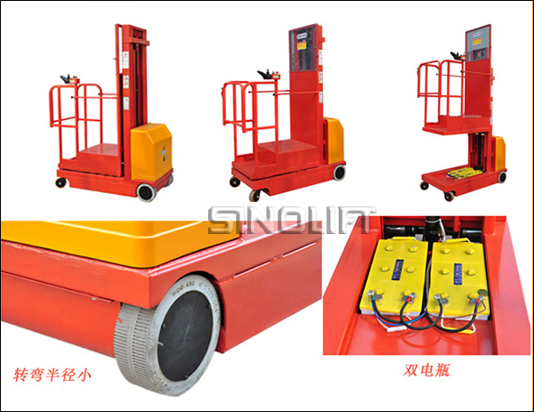 HOT! ZDYT Self-propelled Order Picker With The Function Of Electric Moving and Lifting