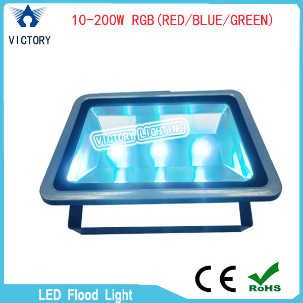 2015 high power super bright RGB 10-200W LED flood light 20000 Lumens outdoor flood light with factory wholesale price