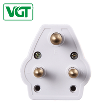 VGT 2018 Competitive price brand top quality pure-solid-pin brass 3 pin 15A electrical uk plug adapter on sale
