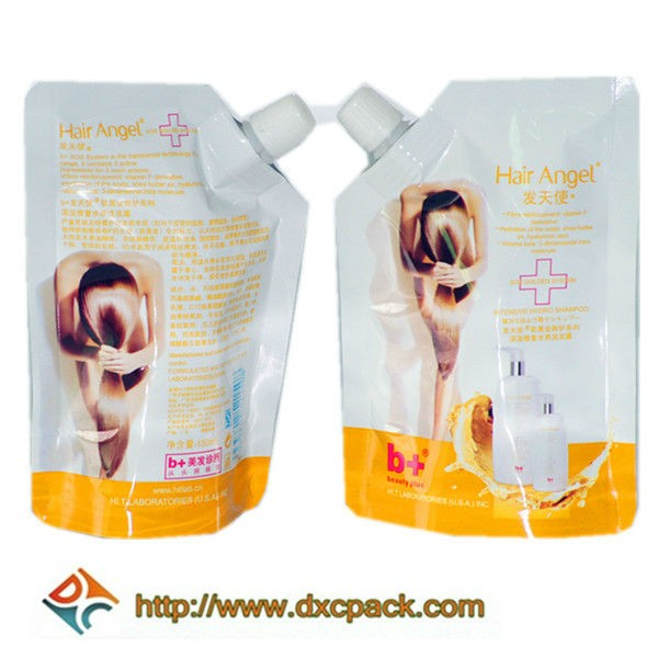 Custom Printing Pouch Bag For Cosmetic With Spout For Sun Cream