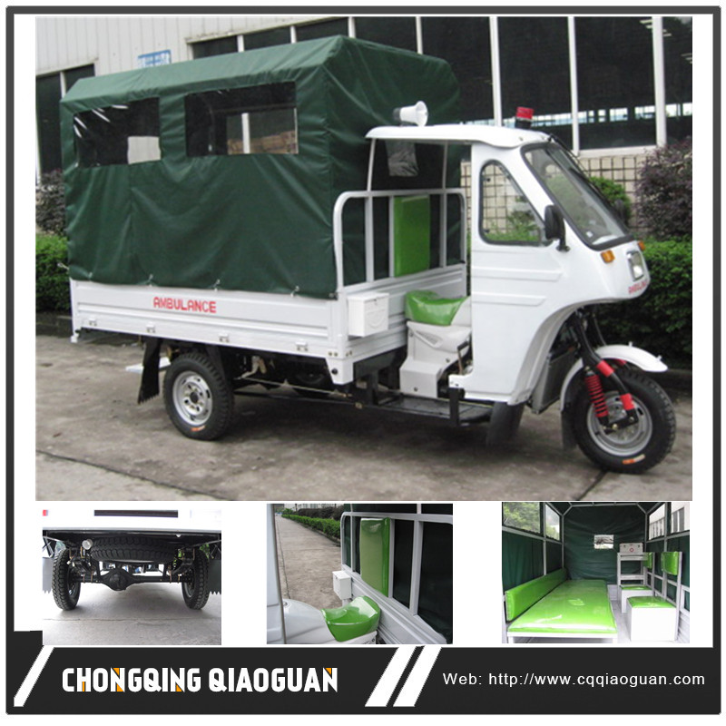 Africa Cheap 150cc/200cc Three Wheel Ambulance Manufacturer, Hospital Medical Treatment Tricycle