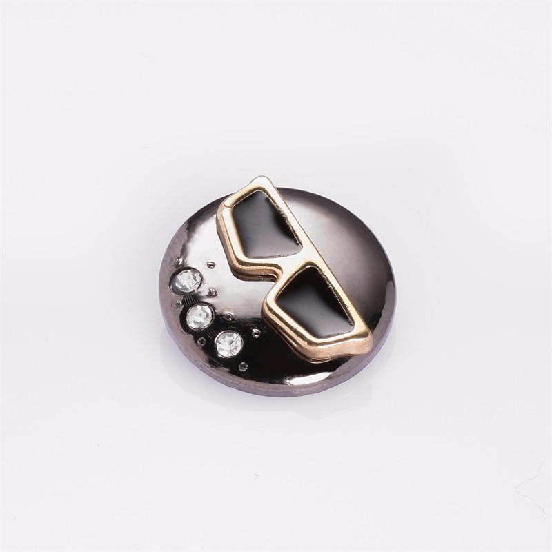 Factory-made Embossed 3D Snap Buttons Metal Four Part Buttons Metal Combined Buttons