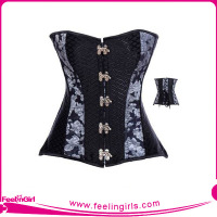 Clip And Hooks Waist Trainer Private Label Gothic Punk Rave Clothing