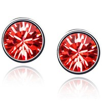 high quality birthstone fancy stud earring made with Swarovski elements crystal