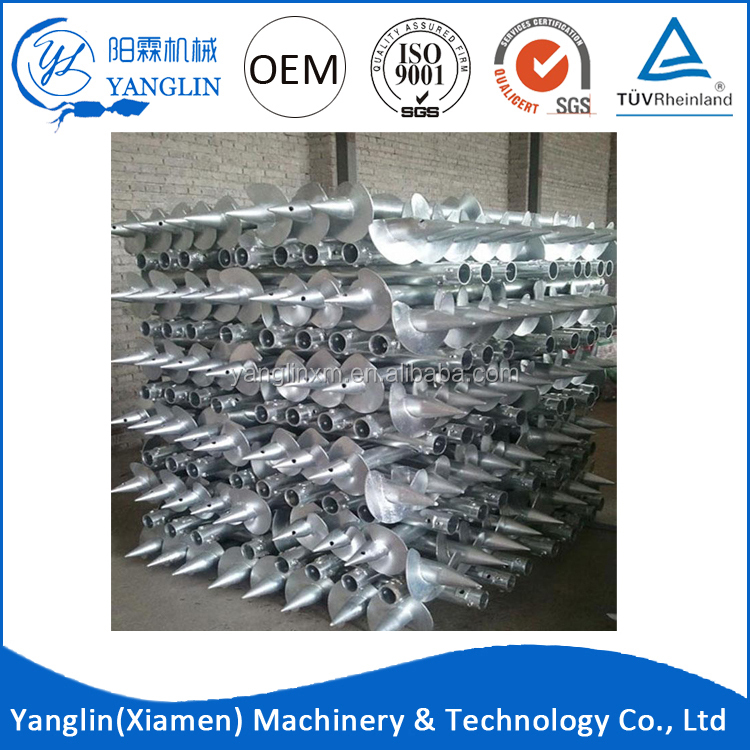 2016 hot selling Galvanized Q235 techno metal post helical piles