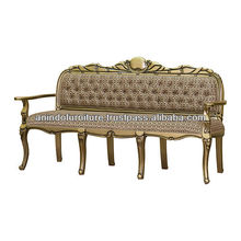 Gold and Black Leaf Sofa 3 Seater