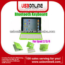 360 Degree Rotate Wireless Bluetooth Keyboard Case For iPad 2/3/4