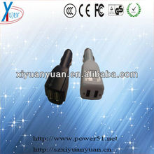 USB type 5v 75oma dual output car charger