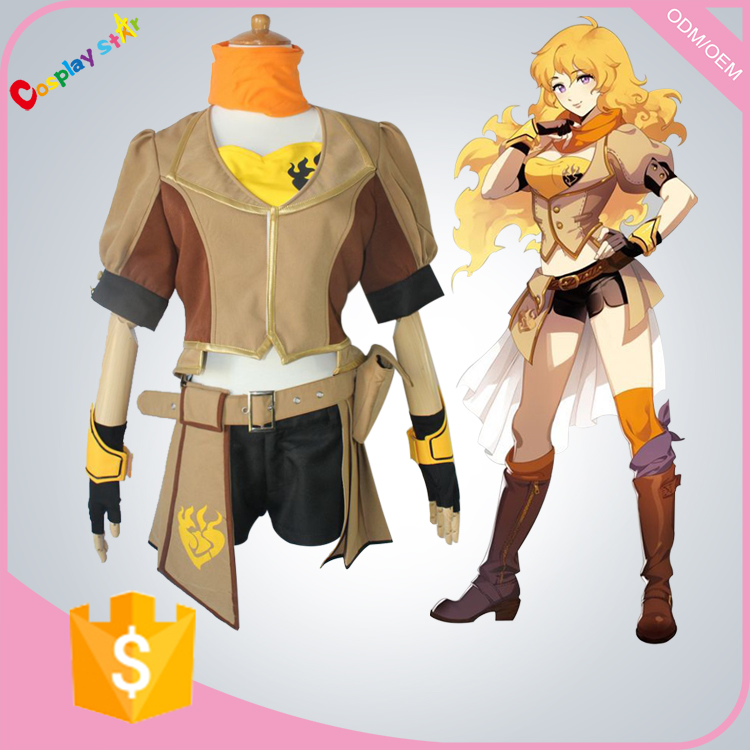 Rwby Costumes Yellow Yang Xiao Long Cosplay Costume women costume