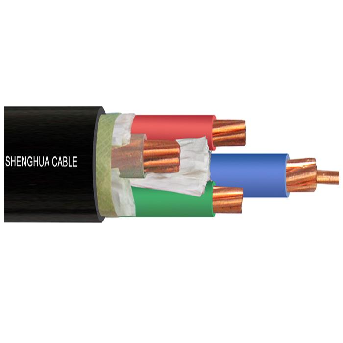 low voltage copper cor XLPE insulated PVC shethed power cable 4x25