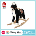 Handmade plush rocking horse for toddlers ride on toys wholesale