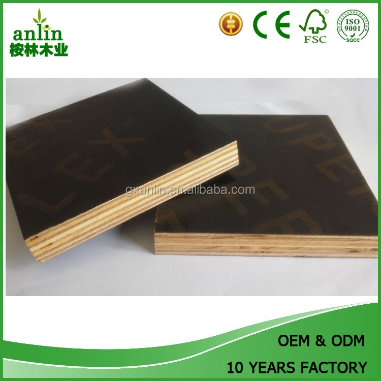 Construction Timber Melamine coated Eucalyptus Phenolic Film Faced Plywood