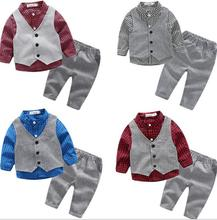 sh10238a Kids formal suit design 3 pieces baby kids clothed for children