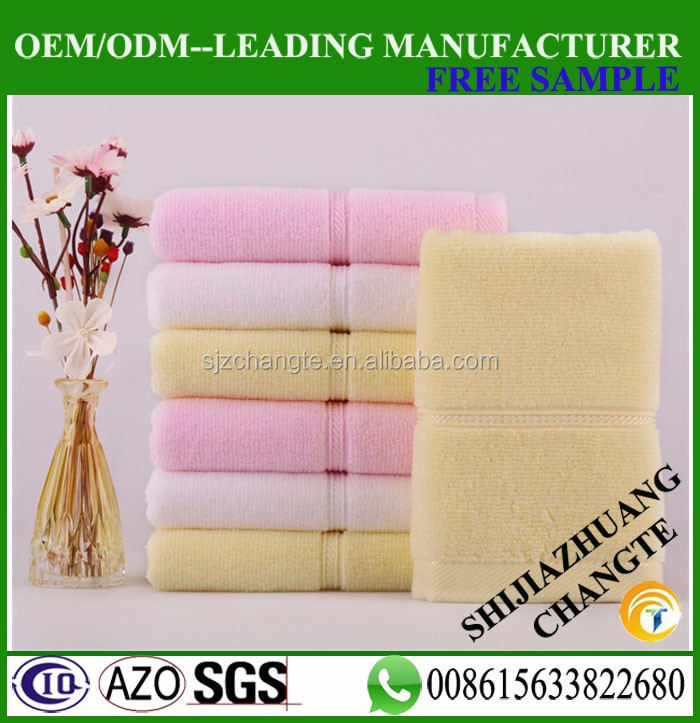 32S solid color cotton hand towel online daily used hand face towel
