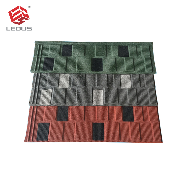 Decorative metal roof tiles / building materials for house stone coated roof tile / Zn-Al galvalume steel