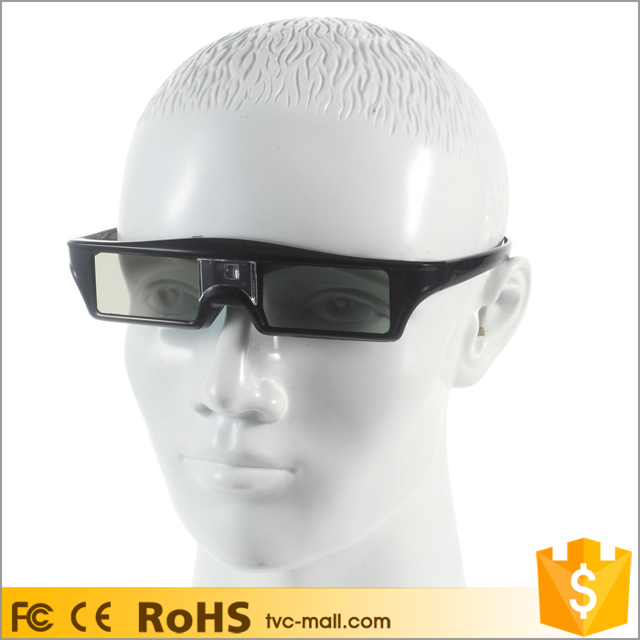 Rechargeable 144Hz 3D Infrared Active Shutter Glasses for 3D Projectors