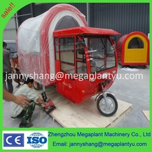 hot dog motor tricycle mobile food cart with cheap price