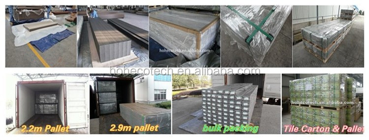 Grey wpc co-extrusion decking board