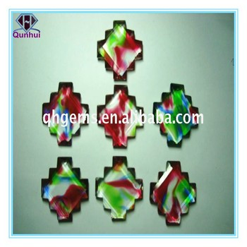 fancy irregular shaped colorful cubic zirconia