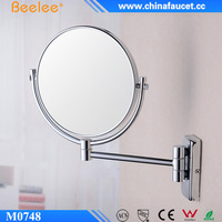 Round 2-Face Brass Holder 3X Magnifying Decorative Mirror