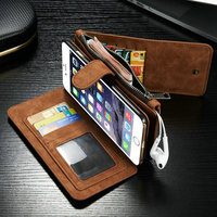 Multifunctional case New Design Wallets for iPhone 6s Plus , Leather Cases for iPhone 6S/6S Plus 14 Card Slots 2 in 1
