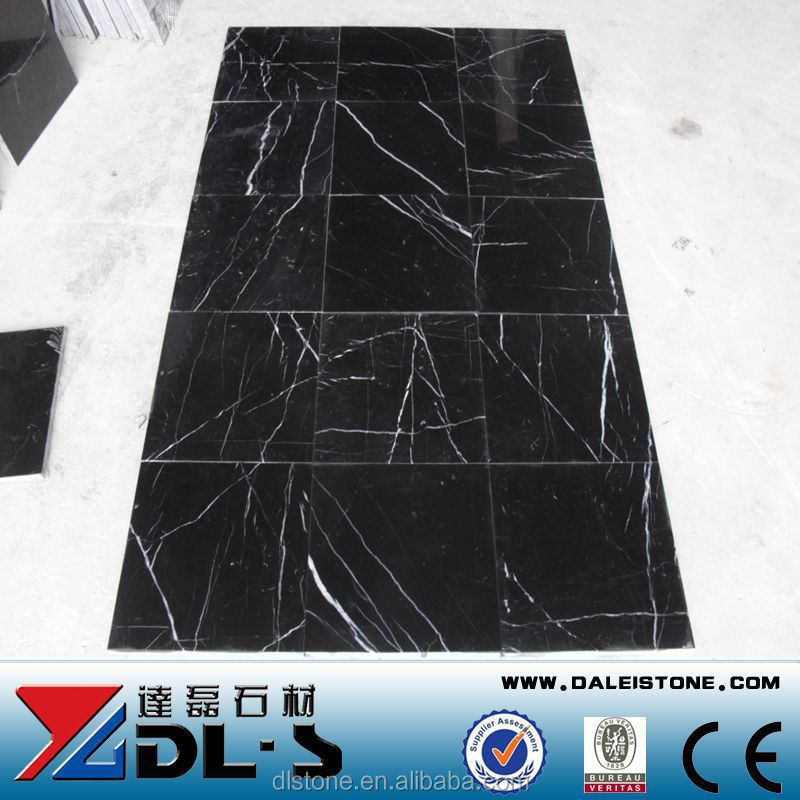 Very nice Natural Stone Black Marquina Marble Polished tiles