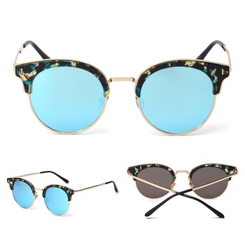 Wholesale Big Frame PC Polarized Sunglasses Women Colorful pin Glasses
