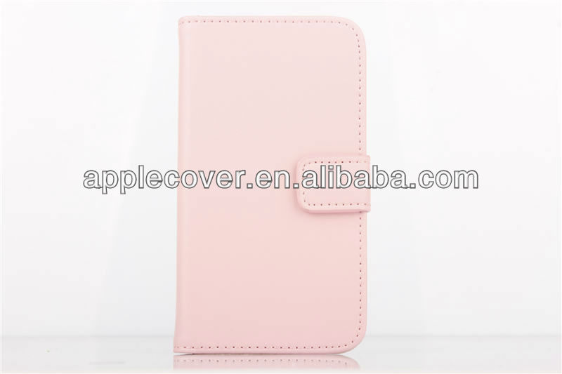 Cell phone wallet leather case for S4 mini,for S4 mini housing