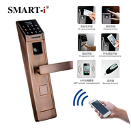 2016 Top security smart card electronic password door digital lock with CE &ROSH and free app IOS Android to control