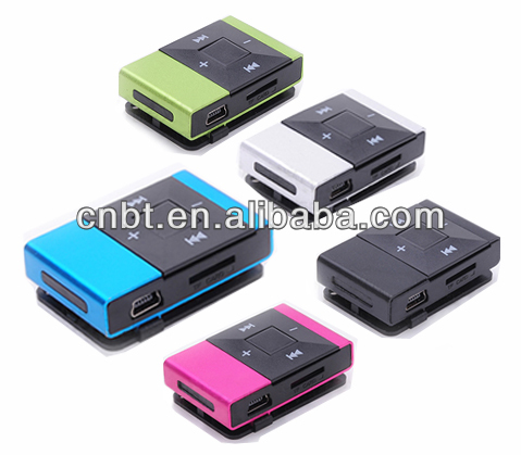 Colored fancy design diamond clips mp3 player