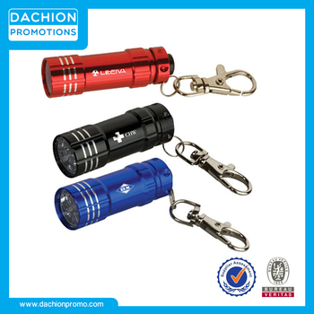 Advertising Junction Metal Flashlight with Key Tag