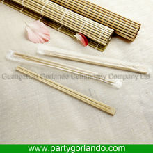 Chinese disposable cello wrap bamboo chopsticks with paper wrapper