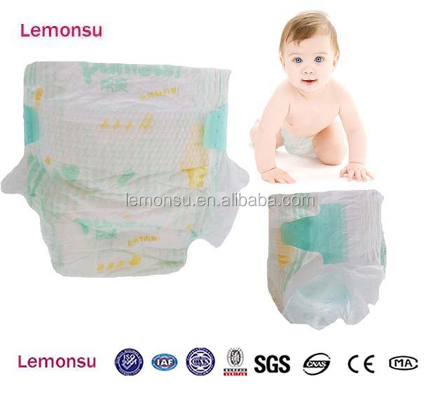 Premium big ear tape clothlike backsheet disposable baby diape