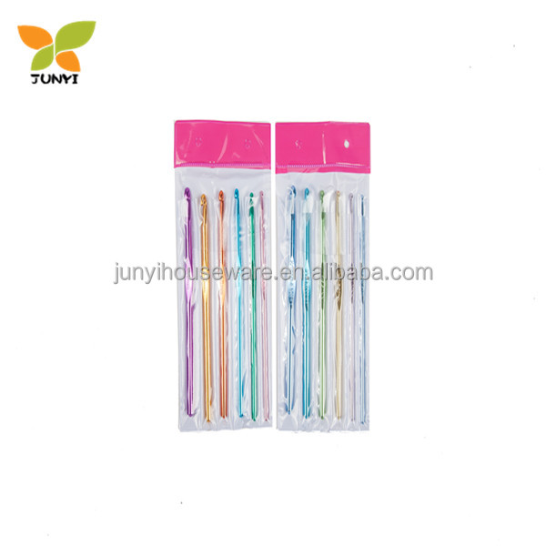 6pcs colorful crochet hooks