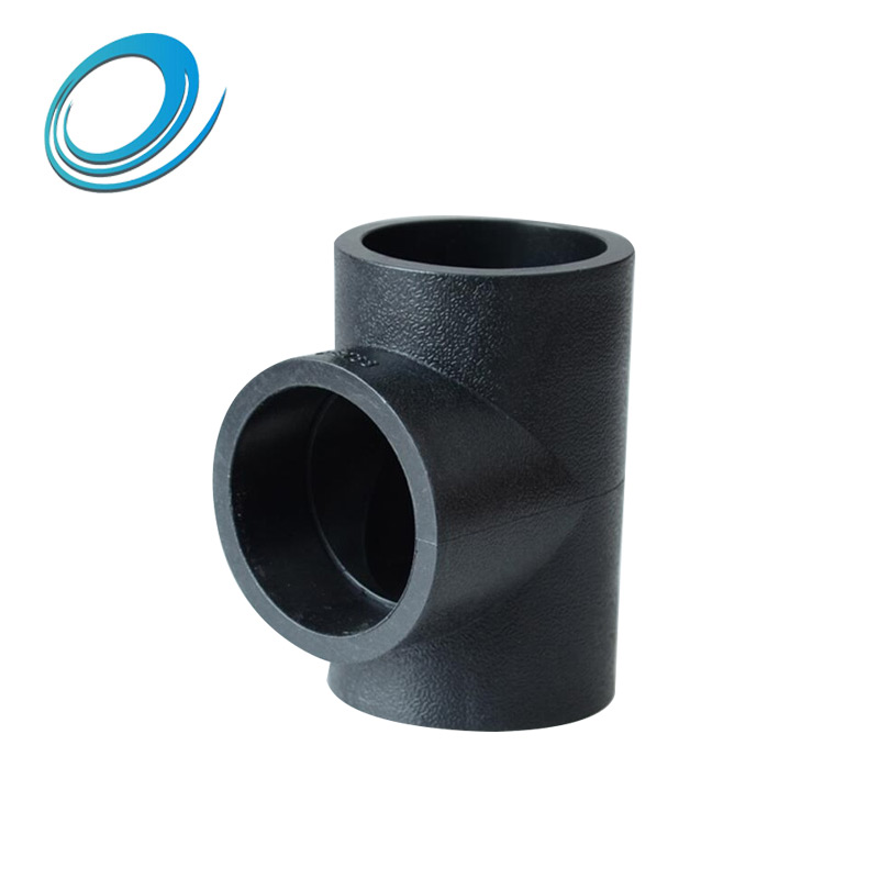 Standard size HDPE plastic tee joint connector tube pipe fittings for sale