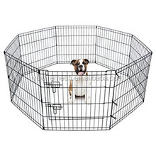 Hot Selling Large Metal Wire Mesh Outdoor 8 Panels Folding Dog Kennel