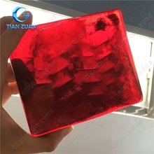 the material of red glass rough raw glass Synthetic glass gemstone