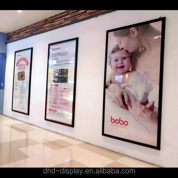 Lighted poster frames