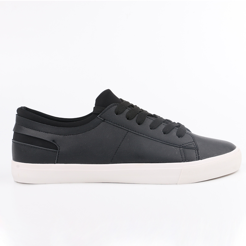 Fashion Plain Black Man Shoes Classical Men pu Leather Casual Shoes