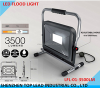 High Quality 230V 50w 3500LM LED WIRED WORK LIGHT LED Floor Light With Adjustable Head