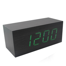 Carpet Alarm Clock,Decorative Clock,Wood Digital Clock