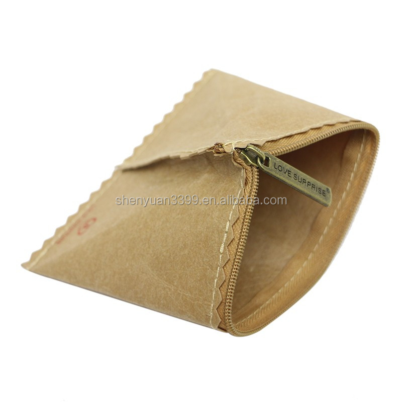 China supplier kraft paper coin wallet unique paper unisex purse waterpoof durable wallet Taobao