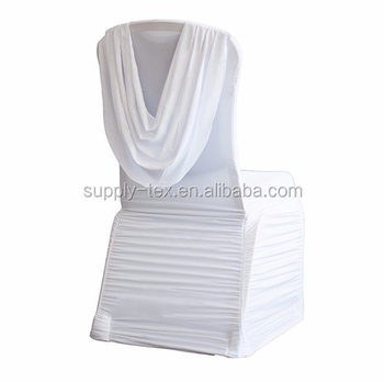 wedding Swag Back Elegant White Back Ruffled spandex chair cover