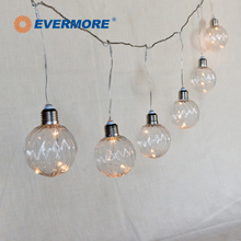 EVERMORE Decoration Clear LED Globe String Bulb Lights Chain