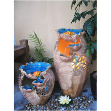 Best Sale Special Indoors Garden Home Decor Medium Ceramic Pottery Water fountain Household humidifier
