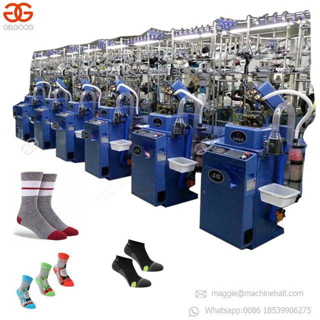 Industrial Price Automatic Korea Soosan Sock Needles Linking Sewing Making Machine Computerized Sock Knitting Machine