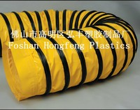 yellow color Fire retardant flexible plastic duct